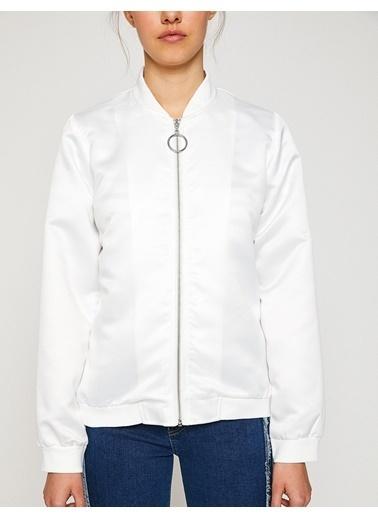 Koton Bomber Ceket Beyaz
